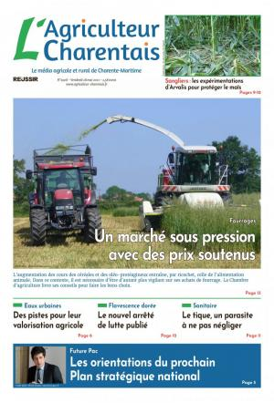 La couverture du journal L'Agriculteur Charentais n°2822 | septembre 2019